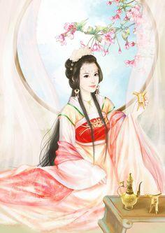 木子祭@东方叙白采集到「凤箫吟」古风美人画集(1097图)_花瓣插画/漫画