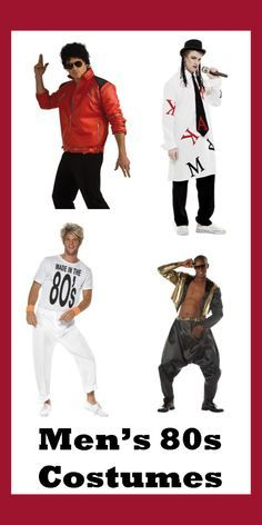Men's 80s Costumes - totally bodacious dude!                                                                                                                                                                                 More