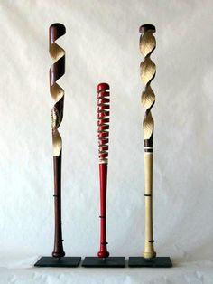 Baseball bat sculpture