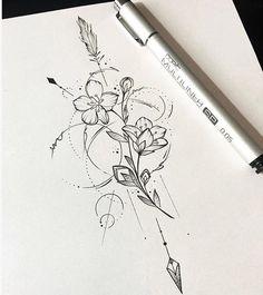 29 ideas tattoo mandala female back - diy tattoo images Kunst Tattoos, Neue Tattoos, Body Art Tattoos, Tattoo Drawings, Sleeve Tattoos, Tatoos, Tattoo Sketches, Diy Tattoo, Form Tattoo