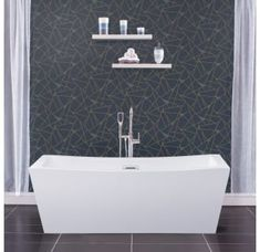 Buy the Miseno White Direct. Shop for the Miseno White Rectangular Free Standing Bathtub with Center Drain and save. Bathtub, Bathtub Drain, Bathtub Remodel, Acrylic Bathtub, Bathrooms Remodel, Shower Design, Refinish Bathtub, Free Standing Bath Tub, Free Standing Tub