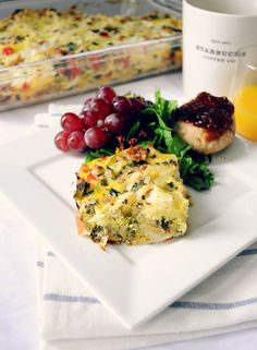 If you're looking for a delicious, mess-free way to enjoy eggs then dig your fork into this egg bake from Hungry Healthy Girl! Every square inch of eggs is loaded with lean turkey sausage, onions, ...