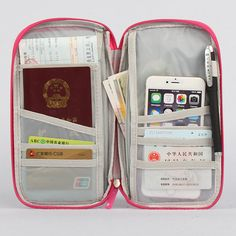 Luggage & Bags Thikin Large Capacity Travel Passport Cover Women Cute Corgi Printing Clutch Credit Card Holder Passport Wallet Purse Money Bag