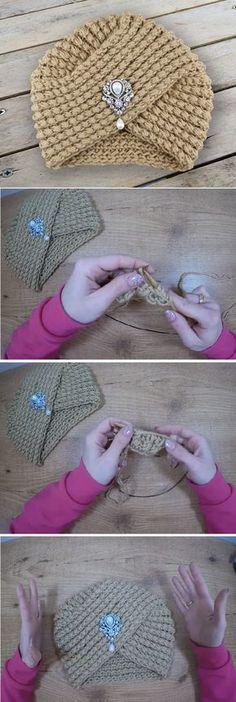 Crochet Beautiful Turban Very Easy and Fast