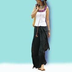 A perfect Indian - skirt pants (K1001). $37.00, via Etsy.