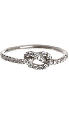 I have such a crush on this ring... Finn Diamond Love Knot Ring