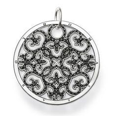 Der Schmuck von Thomas Sabo - unverkennbar. Scheibe Ornament schwarz groß PE433-051-11