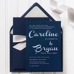 French Script wedding invitation, maybe?