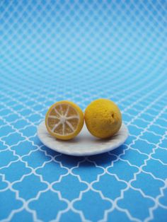 Lemon Earrings Polymer Clay Studs Dessert Food Jewelry Miniature Jewelry Food Earrings
