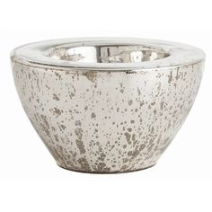 Cyd Large Distressed  Mercury Glass Bowl