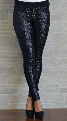 Sequin leggings. How unbelievably perfect for going out.