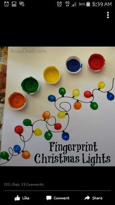 Christmas fingerprint lights
