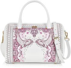 Class Roberto Cavalli  Crazy Print Pink Bowling Bag