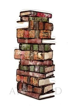 Stack of Books Watercolor Temporary Tattoo by Atattood on Etsy https://www.etsy.com/listing/243648839/stack-of-books-watercolor-temporary
