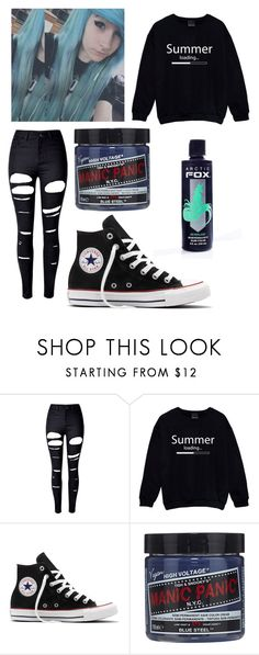 """""""Sarah Christine Fowler"""" by ash-the-emo ❤ liked on Polyvore featuring WithChic, Converse, Manic Panic NYC and Arctic Fox"""