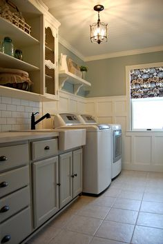 Roly Poly Farm: Laundry Room Reveal--with iron board idea