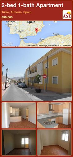 2-bed 1-bath Apartment in Turre, Almeria, Spain ►€59,500 #PropertyForSaleInSpain