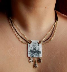 "Ooak☥Craft - 'Through the Looking-Glass' necklace > Collar ""Through the Looking-Glass"""