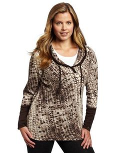 Calvin Klein Performance Womens Plus Size Python Print Thermal Hoodie from Calvin Klein   Performance  $56.00  www.your-online-fashion.com.