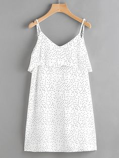 Shop Textured Dots Open V Back Layered Cami Dress online. SheIn offers Textured Dots Open V Back Layered Cami Dress & more to fit your fashionable needs.