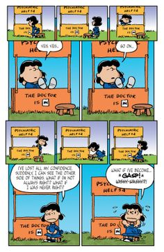 Peanuts Vol. 2 - Comics by comiXology Charlie Brown Comics, Charlie Brown And Snoopy, Snoopy Comics, Bd Comics, Peanuts Cartoon, Peanuts Snoopy, Peanuts Images, Psychiatric Help, Pulp Fiction Comics