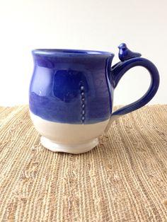 Coffee mug - Handmade ceramic mug with bird