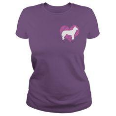 I Love My Siberian Husky 2 on Pink Heart T-Shirts, Hoodies. VIEW DETAIL ==►…