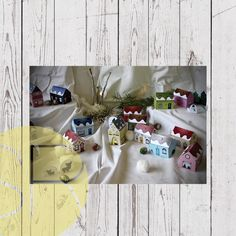 Paper Village Advent Calendar Christmas Countdown, Christmas Crafts, Kebab Sticks, Paper Glue, Up House, Fairy Lights, Advent Calendar, Create Your Own, Gift Wrapping