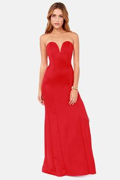 TFNC Patcha Strapless Red Maxi Dress at LuLus.com! WIsh I had somewhere to wear this to