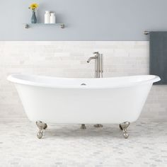 "71"" Russell Cast Iron Double-Slipper Clawfoot Tub -"