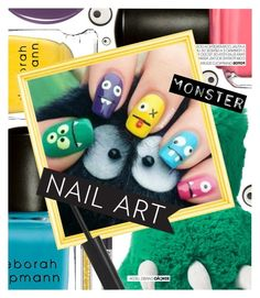 """Boo-tiful: Halloween Nail Art"" by cultofsharon ❤ liked on Polyvore featuring beauty, Deborah Lippmann, Carter's, Anya Hindmarch and Illamasqua"