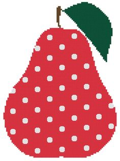 Polka dot Pear a Counted Cross Stitch by WooHooCrossStitch, $9.00