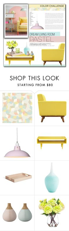 """""""Color Challenge: Pretty Pastels"""" by carlavogel ❤ liked on Polyvore featuring interior, interiors, interior design, home, home decor, interior decorating, Cole & Son, Dot & Bo, AERIN and Bloomingville"""
