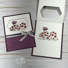 Painted Poppies Stampin' Up! Cards - Melissa's Crafting Treehouse - - - Painted Poppies Stampin' Up! Cards – Melissa's Crafting Treehouse – paletten Painted Poppies Stampin' Up! Cards – Melissa's Crafting Treehouse – Tarjetas Stampin Up, Stampin Up Karten, Poppy Cards, Fun Fold Cards, Stamping Up Cards, Rubber Stamping, Card Making Techniques, Card Tutorials, Flower Cards