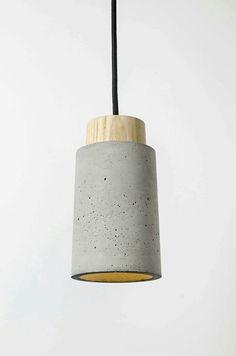 Concrete lamp Lâmpada de concreto