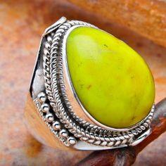 Gaspeite Ring...via Litsa Kyriacopoulos