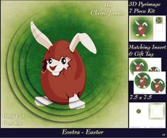 Eostra Easter Bunny Hatching Insert Tag on Craftsuprint - Add To Basket!