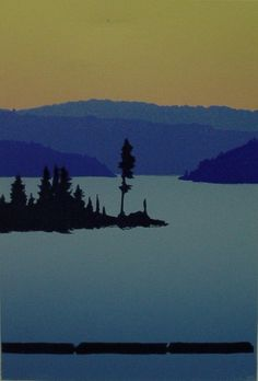 """""""Lake Coeur d Alene"""" Artist's Rendering of Arrow Point, where we have a Worldmark Resort. Can't wait to stay there."""