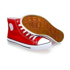 1a2a75637c Pánske červené členkové plátené topánky (tenisky) MSTR CQ-1401