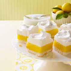 Coconut Lemon Bars with Marshmallow Frosting