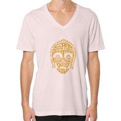 C 3PO Quotes V-Neck (on man) Shirt