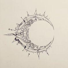 Fresh WTFDotworkTattoo Find Fresh from the Web Mandala Moon…