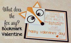 Valentine Idea: What Does the Fox Say? Bookmark Valentine - Funky Polkadot Giraffe  @kristidunyon