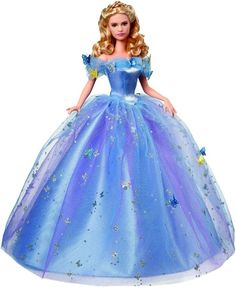Little girls will want to play with her and big girls will want to collect this Cinderella 2015 Royal Ball Cinderella Doll. She is the same size as a Barbie and is dressed in the same exact gown that is worn in the movie. It is available for pre-orders.