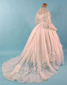 Old Fashion Dresses 1800s | Old Rags - Wedding dress, 1860's, Karen Augusta Antique Lace...