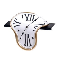 Classic Shelf-Clock – reminds me of Salvador Dalí. But this one you can actually buy.