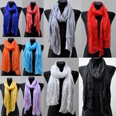 Silk  Seide Lang Schal Langschal Schal Halstuch Tuch Halstücher Uni Damenschal in Kleidung & Accessoires, Damen-Accessoires, Schals & Tücher   eBay