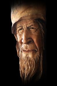 Tree Carvings Faces | Details about OOAK, Wood Tree Spirit, Carving, Face, Sculpture, Decor ...