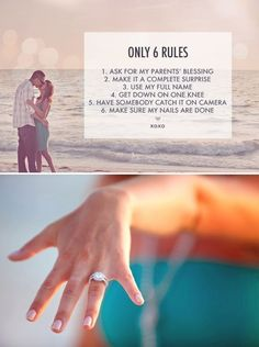 6 Rules. #proposal #tips