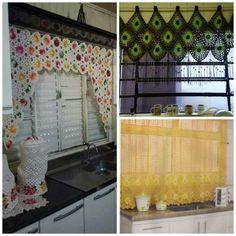 cortina colorida cozinha